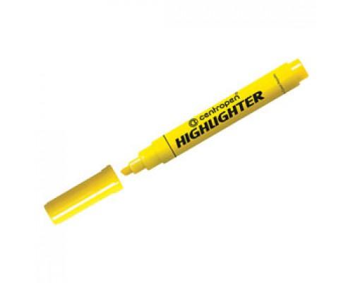 Текстовыделитель CENTROPEN Highlighter 1-5мм, желтый