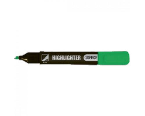 Текстовыделитель 1-4мм, клиновидный, зеленый