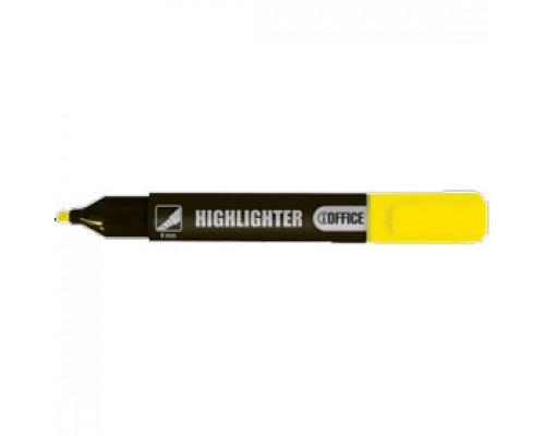 Текстовыделитель 1-4мм, клиновидный, желтый