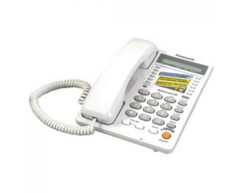 Телефон PANASONIC KX-TS2365RU, проводной, белый