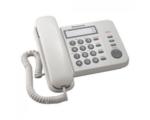 Телефон PANASONIC KX-TS2352RUB, проводной, белый