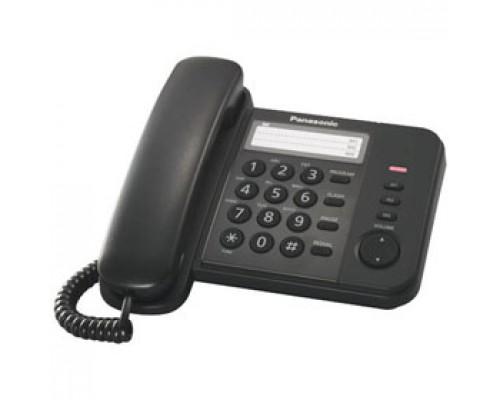 Телефон PANASONIC KX-TS2352RUB, проводной, черный