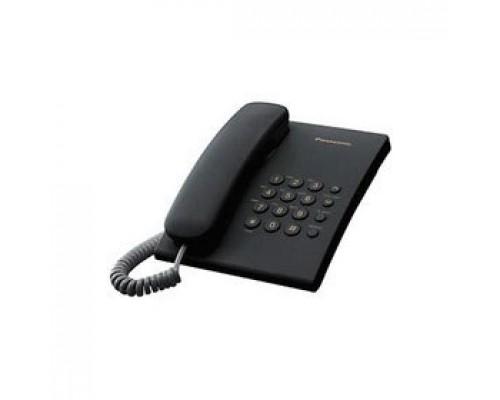 Телефон PANASONIC KX-TS2350RUB, проводной, черный