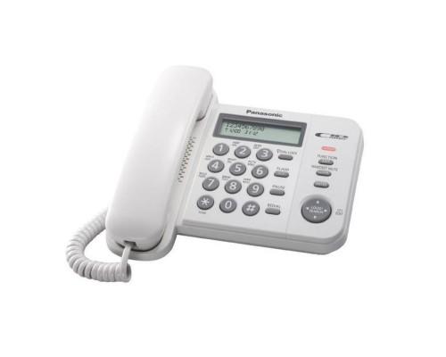 Телефон Panasonic KX-TS 2356RUW АОН, ЖК-дисплей