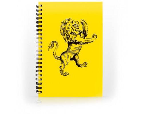 Тетрадь А5 80л, клетка, ламинир. картон, спираль, AVANTRE Black Lions, желтый