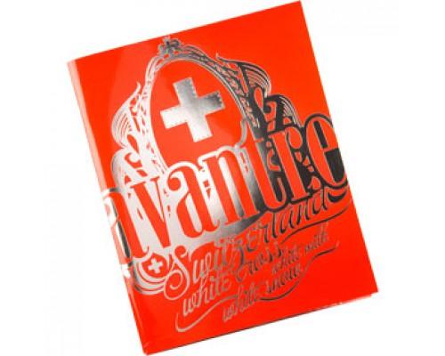 Тетрадь А5 48л, клетка, ламинир. картон, скоба, AVANTRE White Cross Logo, красный