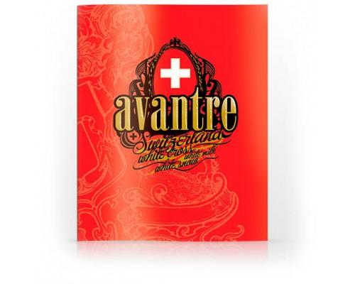 Тетрадь А5 80л, клетка, ламинир. картон, скоба, AVANTRE White Cross Originals, красный