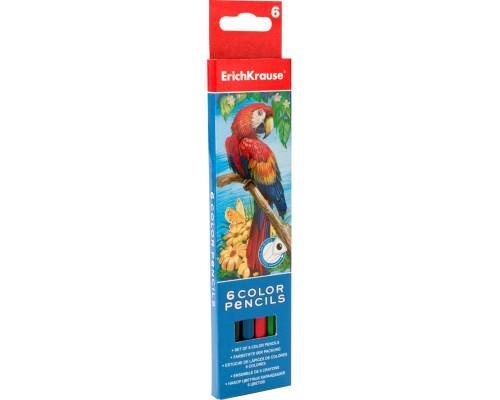 Цветные карандаши трехгранные ArtBerry 6 цветов, ассорти