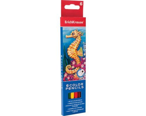Цветные карандаши шестигранные ArtBerry 6 цветов, ассорти