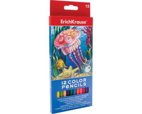 Цветные карандаши шестигранные ArtBerry 12 цветов, ассорти