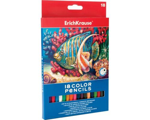 Цветные карандаши шестигранные ArtBerry 18 цветов, ассорти