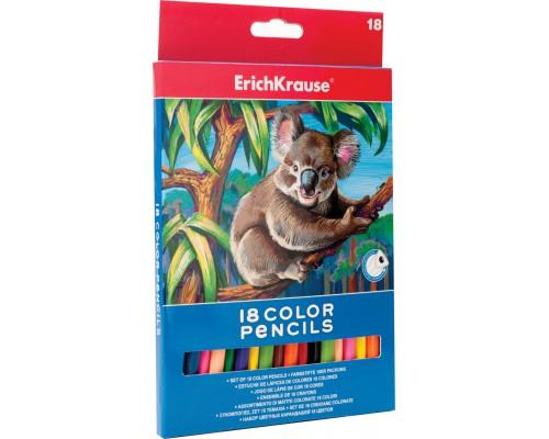 Цветные карандаши трехгранные ArtBerry 18 цветов, ассорти