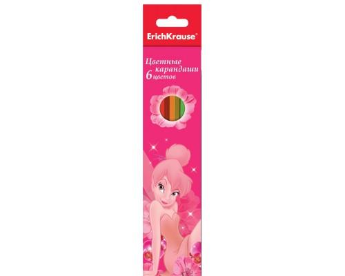 Карандаши 6цв Tink Pink, разноцветн.