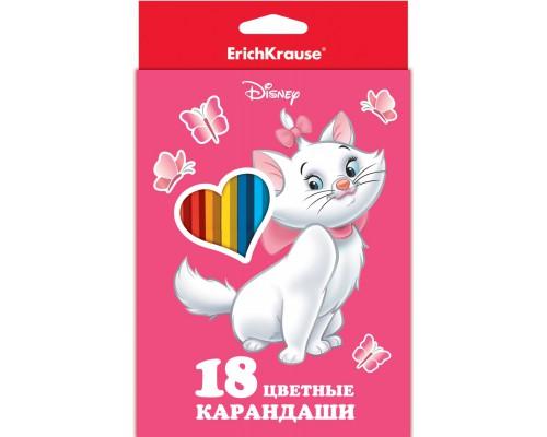 Карандаши 18цв Cat Marie, разноцветн.