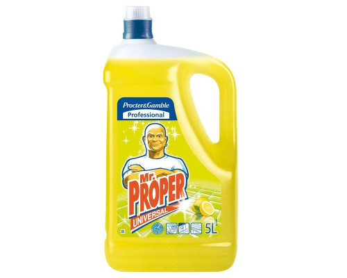 Профессиональная жидкость для чистки твердых поверхностей Mr. Proper (5 лов, лимон)