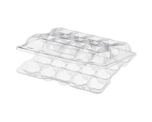 Контейнер для перепелиных яиц ПЯ-20У 167х150х40 мм прозрачный (400 штук в упаковке)