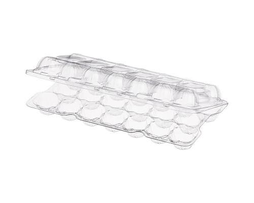 Контейнер для перепелиных яиц ПЯ-20 220х110х40 мм прозрачный (400 штук в упаковке)