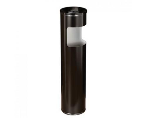 Урна для мусора с пепельницей, 150х600мм, метал., черный