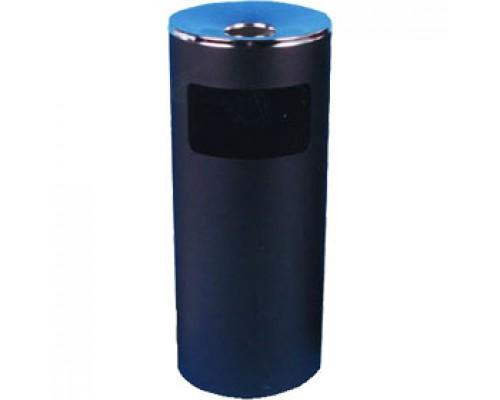 Урна для мусора с пепельницей, 250х600мм, метал., черный
