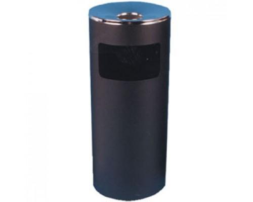 Урна для мусора с пепельницей, 300х710мм, метал., черный