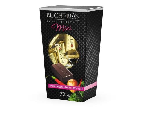 Набор конфет Bucheron mini горький шоколад с фундуком, мятой и кайенским перцем 171г