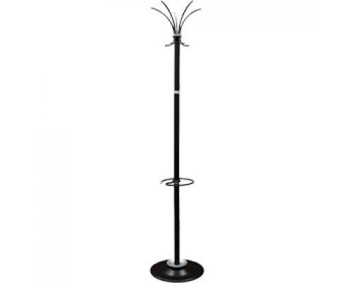 Вешалка для одежды напольная, 5 персон, место для зонта, подставка, черный