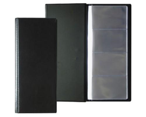 Визитница на 96 визиток DURABLE Visifix 2380-01, ПВХ, черный