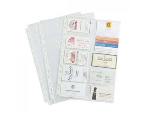 Карман для визитных карточек ERICH KRAUSE Crystal Clear, 10 отделений, глянцевый, 10шт