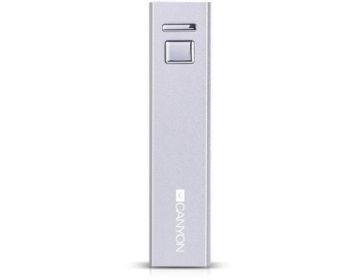 Внешний аккумулятор Canyon CNE-CSPB26W 2600 mAh белый