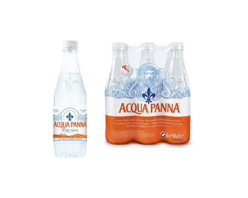 Вода минеральная Acqua Panna негазированная 0.5 л (6 штук в упаковке)