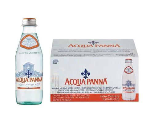Вода минеральная Acqua Panna негазированная 0.25 л (24 штуки в упаковке)