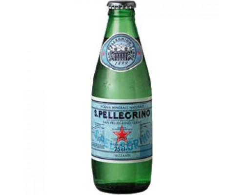 Вода минеральная San Pellegrino, 0.25л, стекл.бутылка, 24шт.
