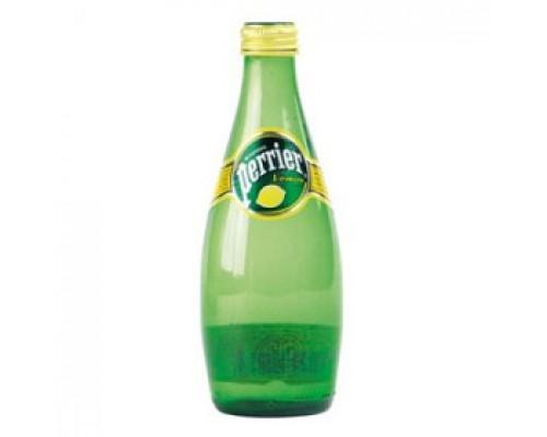Вода минеральная Perrier Lemon, 0.33л, стекл.бутылка, 4шт