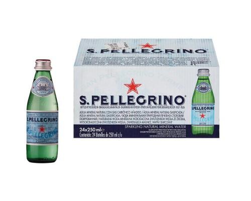Вода минеральная San Pellegrino газированная 0.25 л (24 штуки в упаковке)