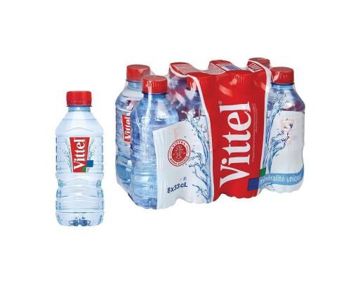 Вода минеральная Vittel негазированная 0.33 л (8 штук в упаковке)