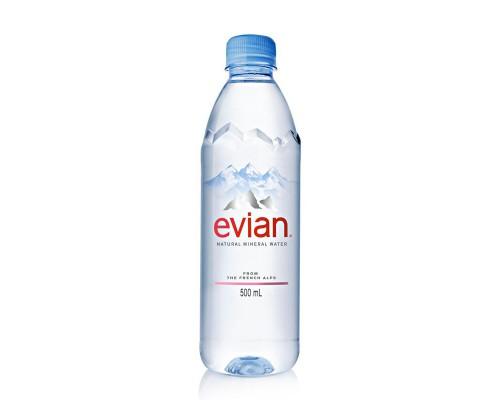 Вода минеральная Evian негазированная 0.5 л (24 штуки в упаковке)