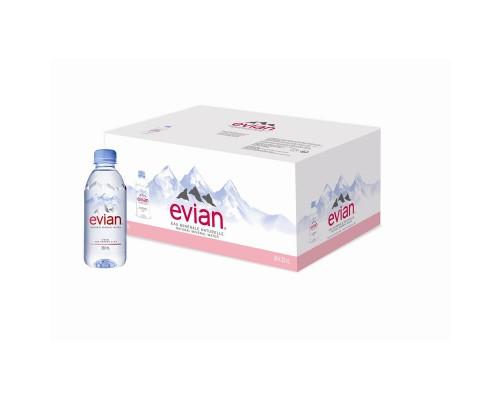 Вода минеральная Evian негазированная 0.33 л (24 штуки в упаковке)