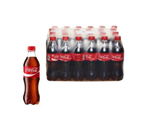 Напиток Coca-Cola газированный 0.5 л (24 штуки в упаковке)
