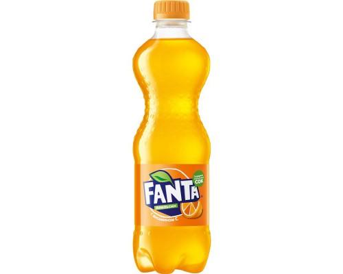Напиток Fanta апельсин газированный 0.5 л (24 штук в упаковке)
