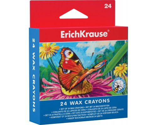 Восковые мелки Erich Krause 24 цвета, разноцветн.
