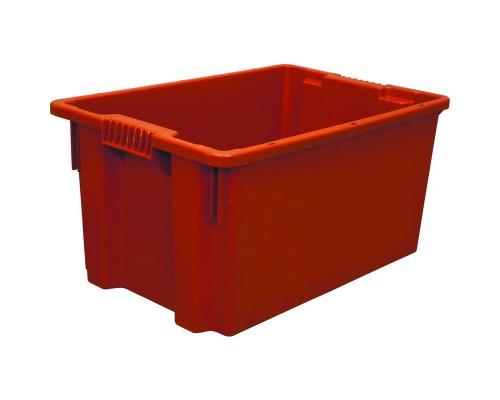 Контейнер пластиковый 600х400х300мм сплош/сплош цветной (арт.601)