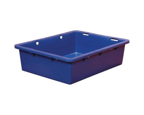 Контейнер пластиковый 532х400х141мм сплош/сплош цветной (арт.306)без крышки