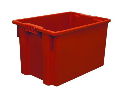 Контейнер пластиковый 600х400х350мм сплош/сплош цветной (арт.603)