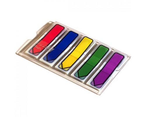 Закладки клейкие 43х12мм 3М Post-it Index 684-ARR1EU, 5цв.х 20шт, стрелки, пластик, неон ассорти