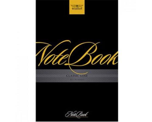 Записная книжка А5 96л, клетка, мелован. картон, скоба, тв. обложка, WILLFORT Note Book
