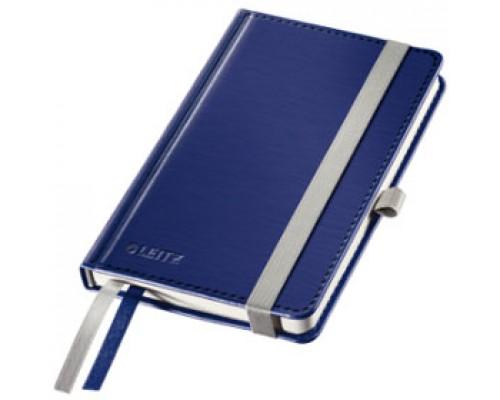Записная книжка А6 80л, клетка, LEITZ Style, синий титан