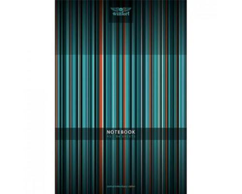 Записная книжка А5 96л, клетка, мелован. картон, скоба, тв. обложка, WILLFORT Colour