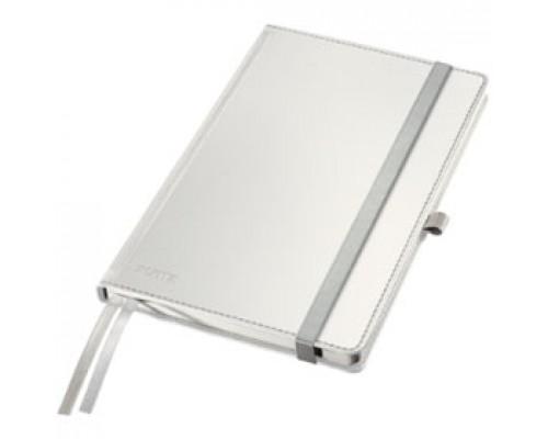 Записная книжка А5 80л, клетка, LEITZ Style, белая сталь