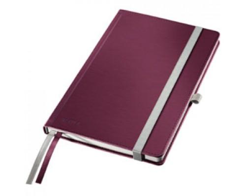 Записная книжка А5 80л, клетка, LEITZ Style, красный гранат