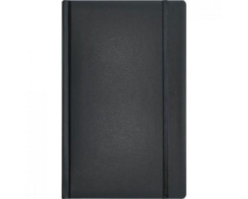 Записная книжка А5 96л, линия, кожзам, резинка, ERICH KRAUSE Ariane, черный